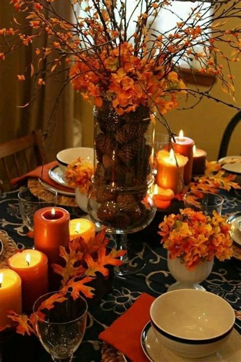 fall themed table decorations 30 cool ideas for table decoration in autumn interior