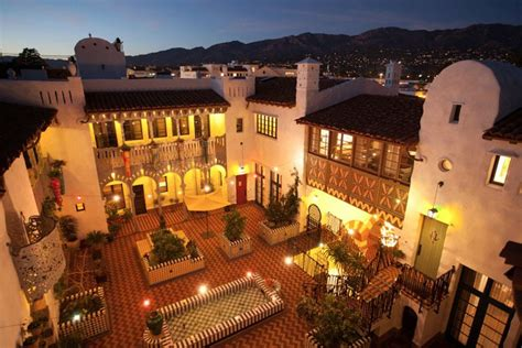 moroccan influenced condominium complex  santa barbara
