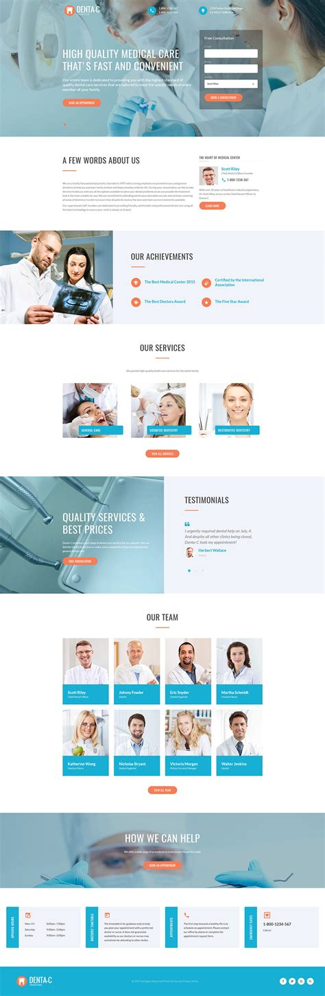 Dentistry Template Dental Landing Page Template