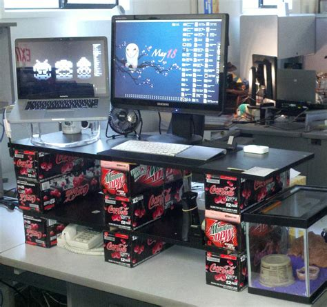 How To Modify Your Existing Desk To Make It A Standing Desk Standing Desk Modification