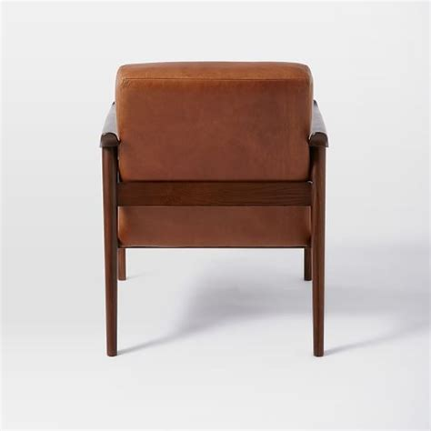 mid century leather show wood chair west elm mid century leather show wood chair west elm