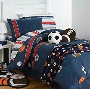 amazon com boys sports soccer basketball football baseball full comforter set 8 piece bed