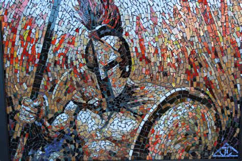 How To Make A Mosaic L by Joseph And Sons Mosaics Artwork Mosaic Spartan Original