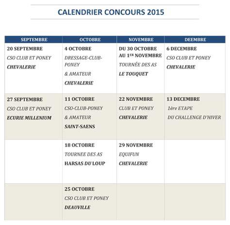 Calendrier Concours Calendrier Des Concours 2015 La Chevalerie De La Bret 232 Que