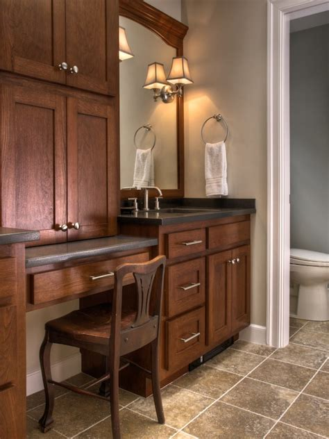 Bathroom Vanity With Makeup Bathroom Makeup Vanity Design For The Home Pinterest