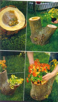 what to do with plant stump as christmas decoration outdoors 24 creative garden container ideas with pictures tree stump planters and logs