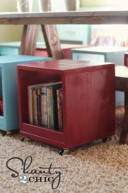 Rolling Storage Cube Ottoman Rolling Storage Cube Shanty2chic Diy Wood Projects