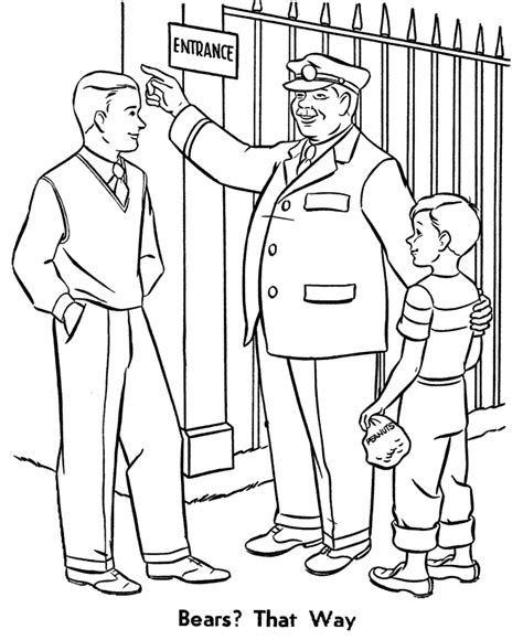 coloring page of zookeeper zookeeper coloring pages a trip to the zoo coloring page