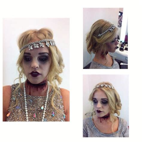 zombie flapper tutorial dead 1920 s flapper gal great gatsby halloween