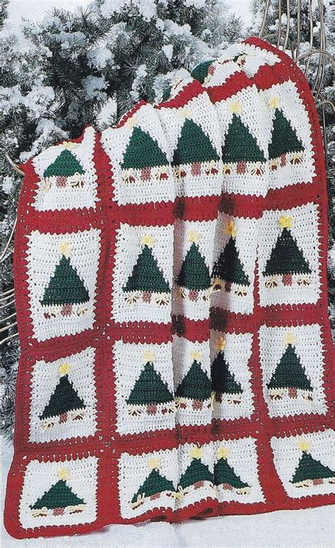 pattern christmas afghan christmas afghan crochet patterns christmas trees