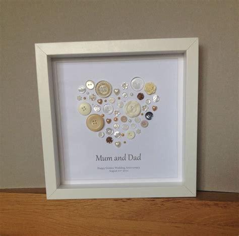 Golden Wedding Anniversary Button Art, 50th Anniversary