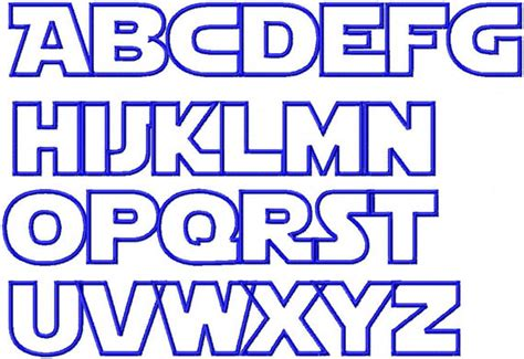 printable star wars alphabet items similar to star wars applique font machine