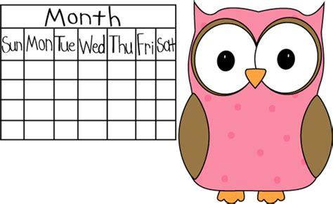 Calendar Helper Clipart Owl Classroom Calendar