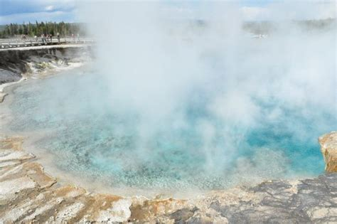 yellowstone n p excelsior geyser the excelsior geyser yellowstone national park the most