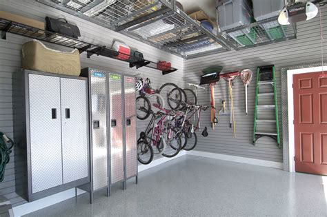 Garage Organization Services Makeover Gallery Complete Garage Renovation And Flooring