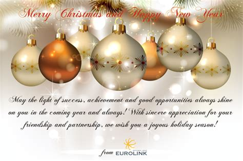 merry christmas  happy  year eurolink investment group
