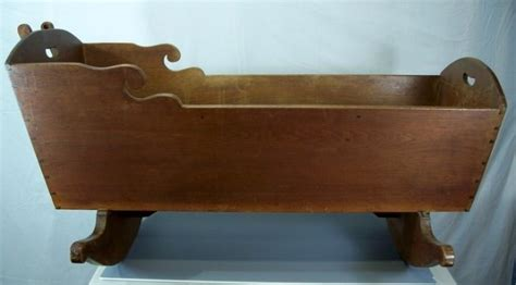 Victorian Walnut Rocking Baby Cradle For Sale Antiques Antique Baby Cribs For Sale