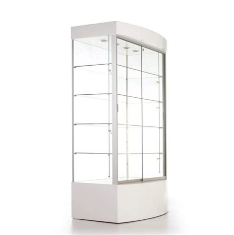 merchandise display case floor standing enclosed glass display case high end
