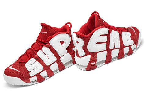 nike supreme air nike is releasing the supreme x air more uptempo on april