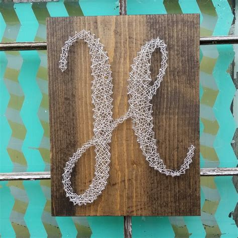 string initial custom monogram sign h sign housewarming