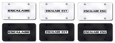 Cadillac Vanity Plates by Escalade License Plates Vanity Logo Tags