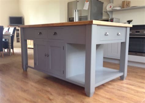 Freestanding Island For Kitchen | painted free standing kitchen island unit ebay
