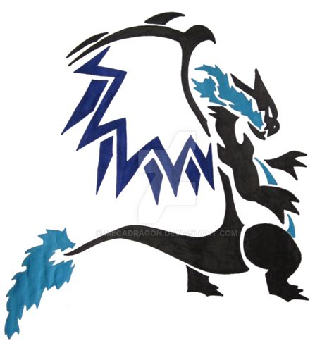 mega charizard x by mecadragon on deviantart