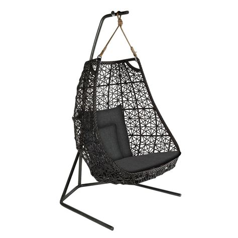 hanging chair swing maia egg swing hanging chair kettal ambientedirect
