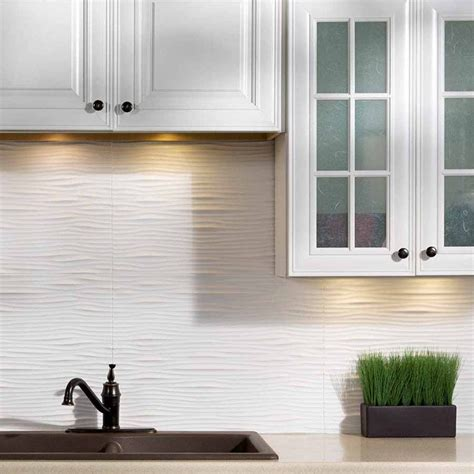 fasade backsplash waves in matte white