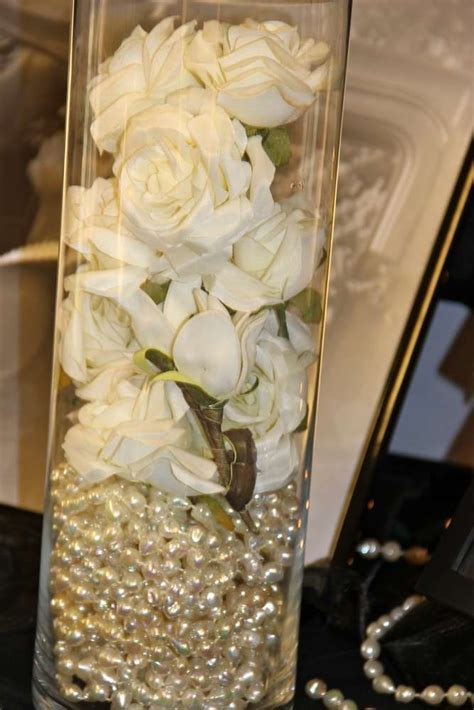 pearl wedding centerpieces best 25 pearl centerpiece ideas on lace vase