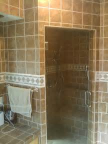 walk in tile shower without door 30 magnificent ideas and pictures of 1950s bathroom tiles