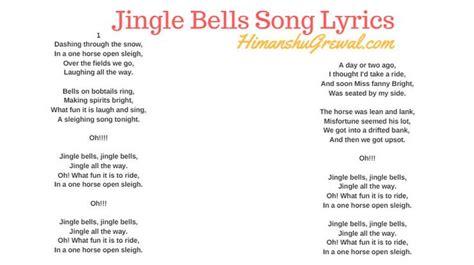 printable jingle bells lyrics jingle bells song lyrics in english free download