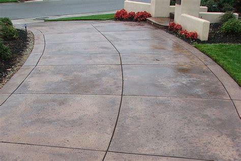concrete overlay driveway landscape project