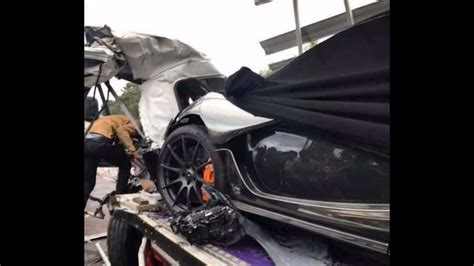 mclaren p1 crash test mclaren p1 damaged during truck crash in cambodia carscoops