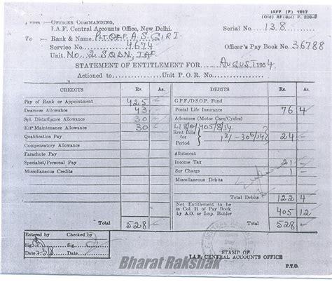 bharatrakshak indian air pay entitlement document
