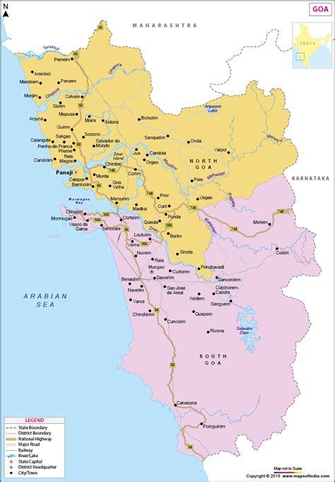 complete goa india road map  tourists goa india