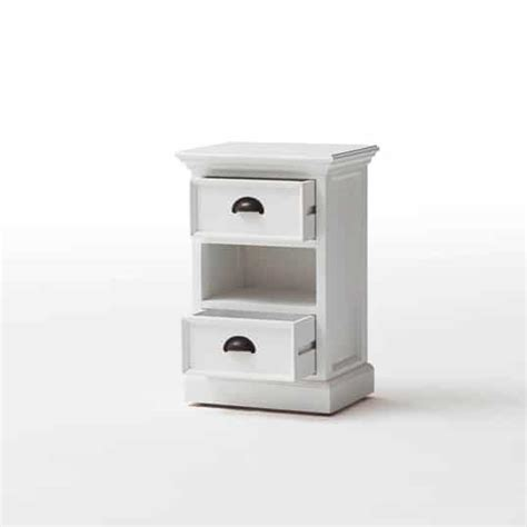 Bedside Tables With Basket Drawers Halifax White Bedside Storage Cabinet With 2 Drawers Basket