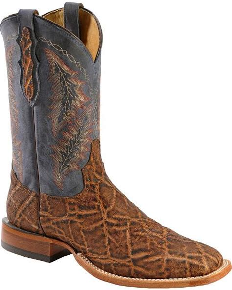 elephant skin boots tony lama vintage elephant cowboy boots square toe