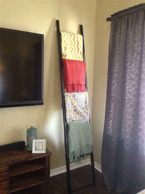 blanket ladder diy for flat pinterest blanket ladder done diy pinterest tvs blanket