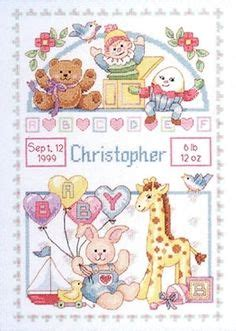 Birth Records Uk Free Access Baby Birth Slers On Cross Stitch Kits Rabbit And Anchors