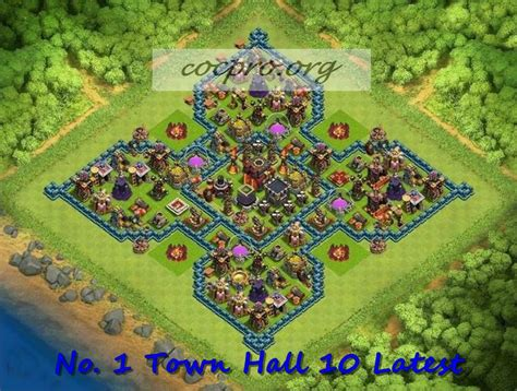 clash of clans th10 trophy layout latest th10 farming trophy defensing war base layouts