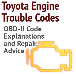 Toyota Trouble Codes Toyota Obdii Engine Trouble Codes