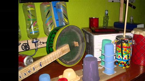 proyecto de instrumentos musicales con material reciclado en primaria reciclaje e instrumentos musicales youtube