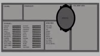 original template original character sheet blank template by ulvkatt