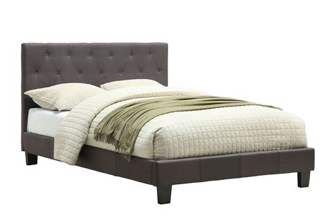Gray Platform Bed Size Gray Leeroy Button Tufted Headboard Platform Bed