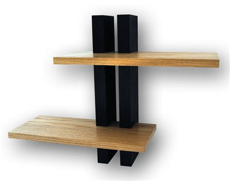 Handmade Wood Shelves - small oak shelves wall shelves handmade in the uk two shelf