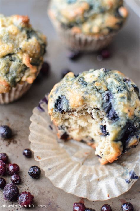 Pluffy Blueberry the best blueberry muffins a burst of beautiful