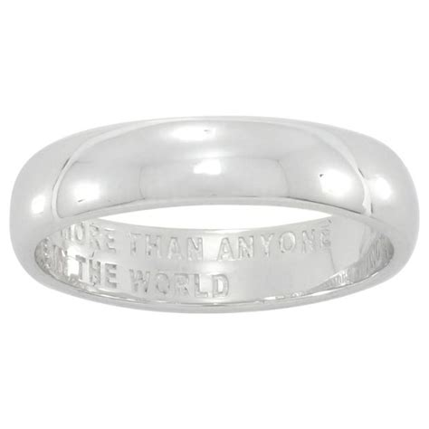 buy sterling silver commitment ring size n at