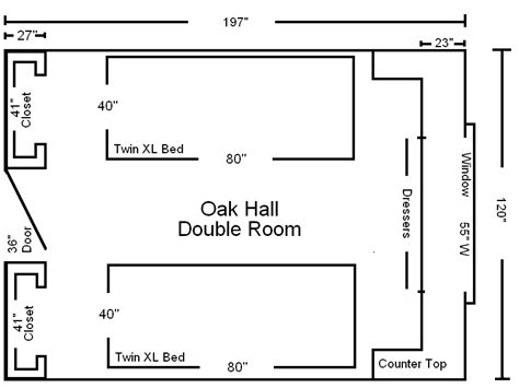 Room Diagram | room diagram housing residential life bemidji state