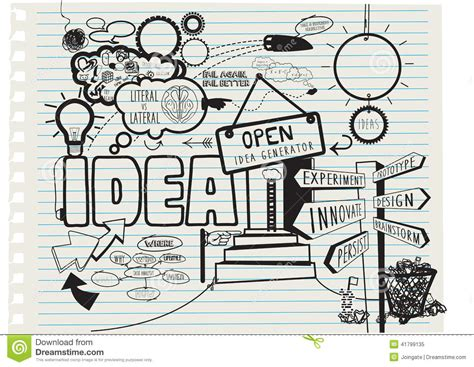 doodle for sign up sheet creative concept for the theme of new ideas